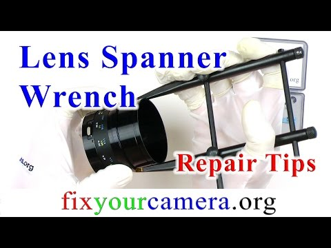 Lens spanner wrench – how to avoid a disaster while using this tool !!!