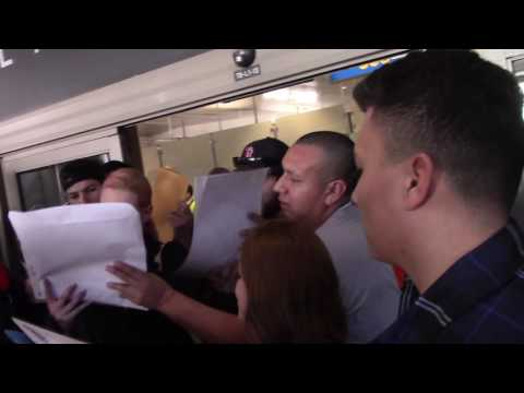 Rapper Iggy Azalea Signs Autographs Outside The LAX Airport In Los Angeles