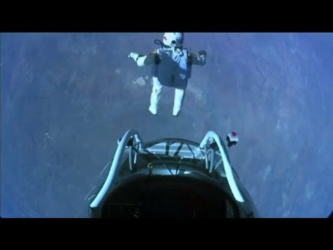 Felix Baumgartner - Red Bull Stratos Balloon Jump from the Edge of Space (10-14-2012, HD)
