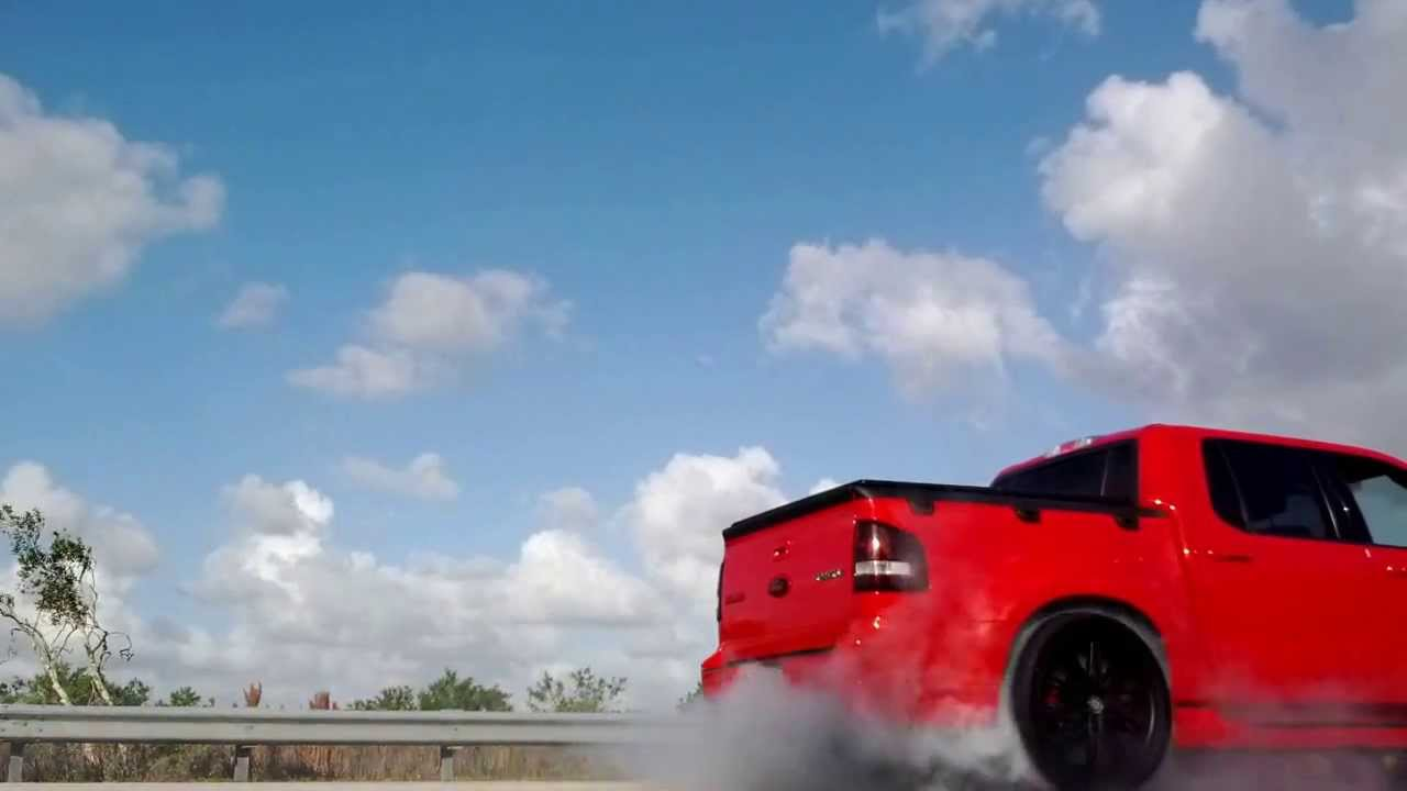 Ford sport trac adrenalin burnout - YouTube