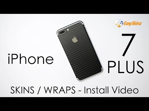 iPhone 7 PLUS CARBON Fibre Skin - INSTALL VIDEO / Review