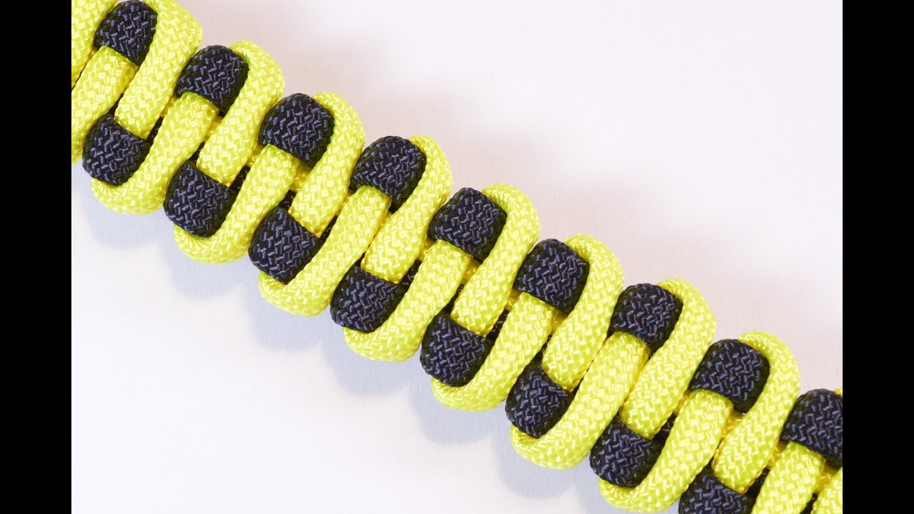 How to make the quot slithering snake quot paracord survival bracelet