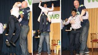 Huge Nathan Jones Picks Up & Swings A Man In the Air