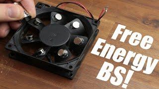 Free Energy BS!    Magnet PC Fan, Bedini Motor