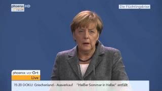"""""""Geordnetes Regime"""" (Aussage Merkel)  Presse-Konferenz mit Angela Merkel und Werner Faymann zur EU-A"""