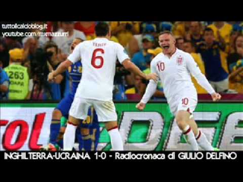 INGHILTERRA-UCRAINA 1-0 – Radiocronaca di Giulio Delfino – EURO 2012 da Radiouno RAI