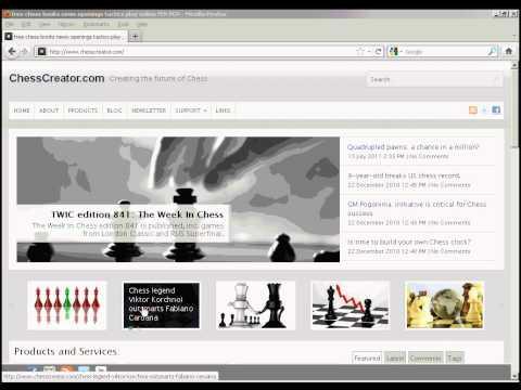 Free chess website: chesscreator.com part 1