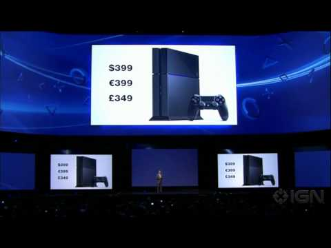 Sony Reveals PlayStation 4 Price - E3 2013 Sony Conference
