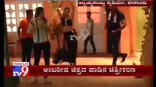 Darshan, Priyamani 'Chali Chali' Hot Song Shooting for Ambaree...