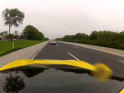 Leaving Penske Chevrolet with police escort to Indianapolis Motor Speedway