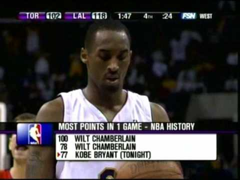 Kobe Bryant Scores 81 Points Raptors vs Lakers (Part 2)