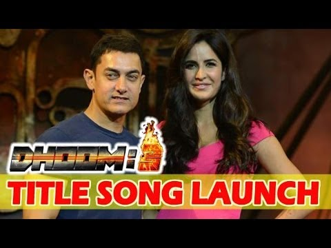 Aamir Khan And Katrina Kaif At Dhoom 3 Title Track Launch Event...
