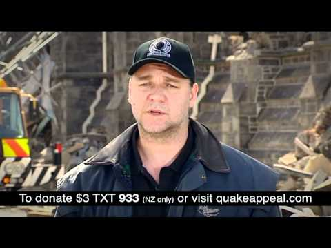 Russell Crowe Christchurch Earthquake Appeal