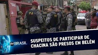 Dois suspeitos de envolvimento em uma chacina são presos em Belém | SBT Brasil (21/05/19)