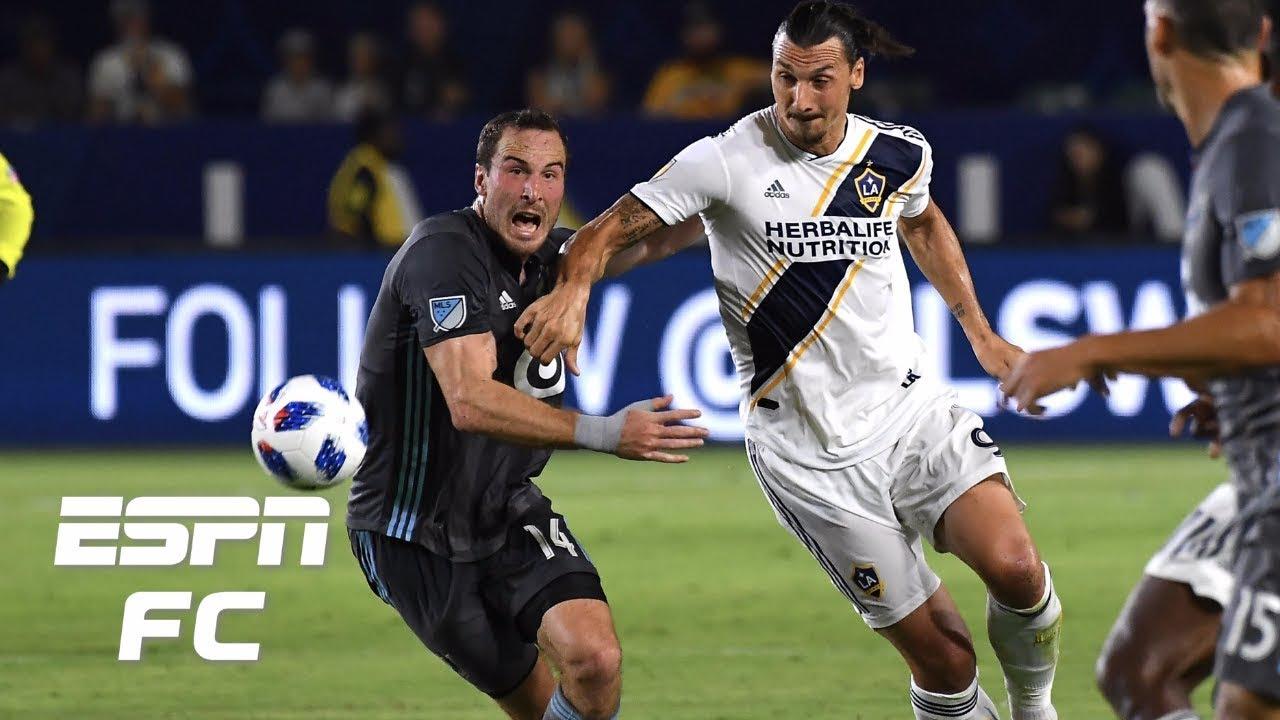 Zlatan Ibrahimovic records goal and assist, LA Galaxy beat Minnesota FC 3-1   MLS Highlights