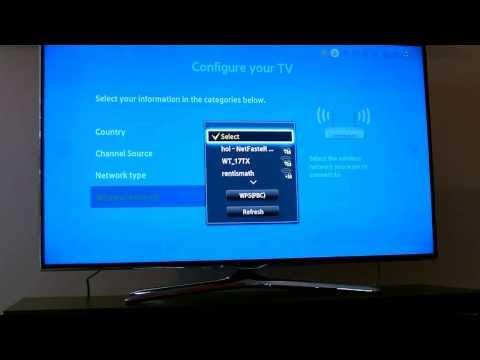 Samsung 3D LED Smart TV  - Setup menu