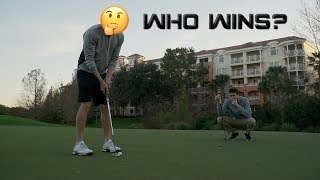 a Match Against a Pro Golfer