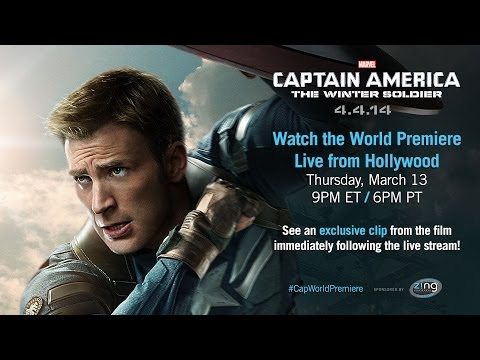 Marvel's Captain America: The Winter Soldier - Live Red Carpet Trailer