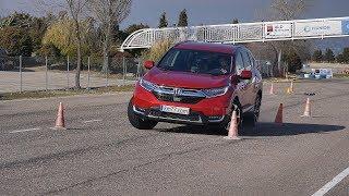 Honda CR-V 2018 - Maniobra de esquiva (moose test) y eslalon | km77.com