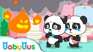 Help! Baby Panda's House is on Fire | Fireman Pretend Play | Kids Safety Tips at Home | BabyBus