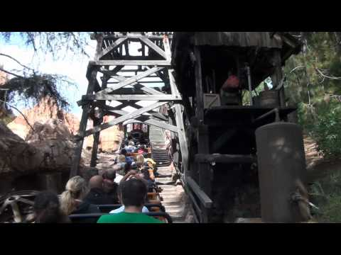 Big Thunder Mountain Railroad Roller Coaster On-Ride POV Disneyland California