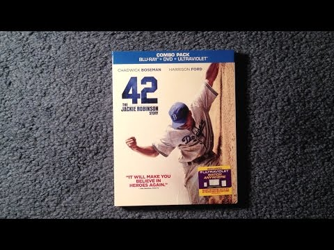 Andrew unboxes 42: The Jackie Robinson Story Blu-Ray/DVD/UltraViolet. SYNOPSIS In 1946, Branch Rickey (Harrison Ford) put himself at the forefront of history...