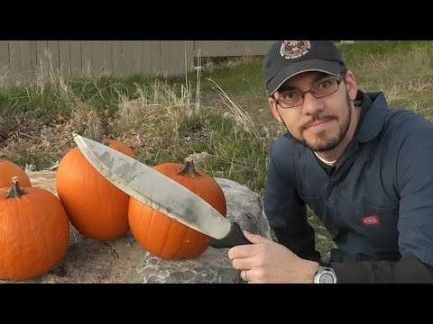 Pumpkin Carving with the Schrade Bolo Machete