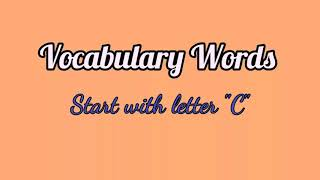 Common English Words Starting with C