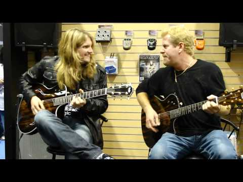 Brad Gillis and Joel Hoekstra (Night Ranger) 2010 NAMM