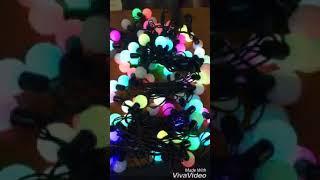 Dây đèn led bi đủ màu trang trí Noel