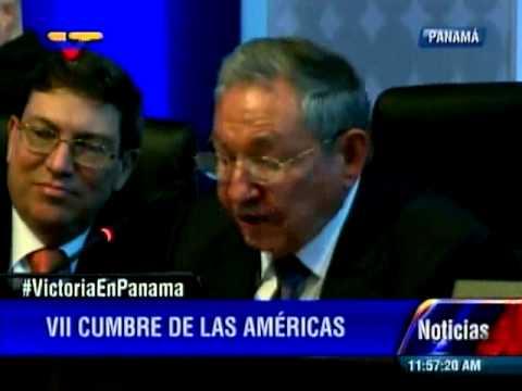 Raul Castro Cumbre de Las Américas