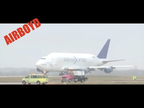 Boeing Dreamlifter Takeoff Jabara Airport Wichita KS