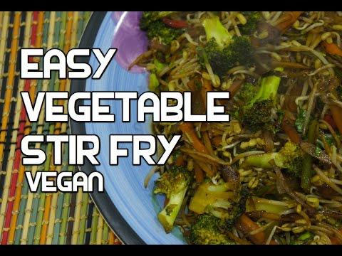Easy Chinese Stir Fry Wok Vegetables Recipe - Vegan