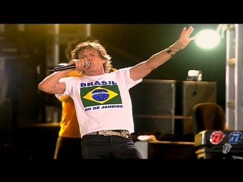 "The Rolling Stones performing ""(I Can't Get No) Satsfaction"", live on Copacabana Beach, Rio De Janeiro, Brazil, February 2006. This is the largest concert of all time, attended by 1.5million..."