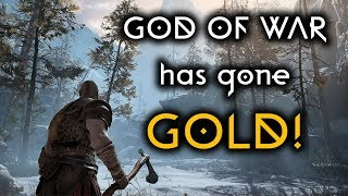 God of War PS4 has gone GOLD! The wait is almost over.