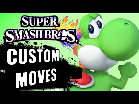All Yoshi's Custom Moves - Super Smash Bros 4 3DS