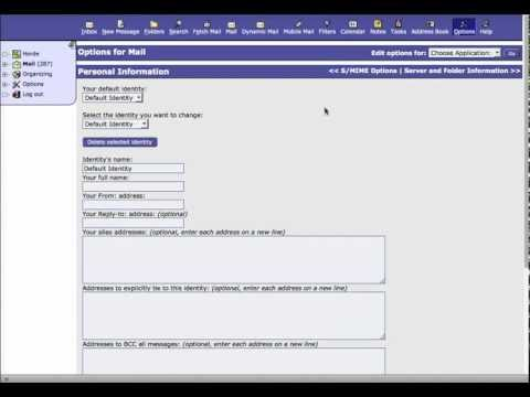Add Email Signature in Horde Webmail / cPAnel
