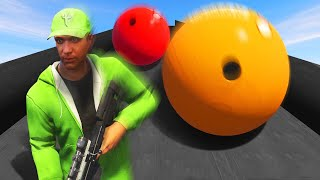 EXTREME BOWLING AVALANCHE DEAHTRUN! (GTA 5 Funny Moments)