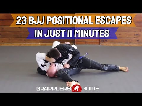 23 BJJ Positional Escapes In Just 11 Min - Side Control, Scarf Hold, Modified Scarf Hold Escapes