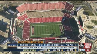 Kickoff tonight for college football national championship in Tampa