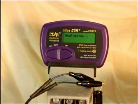 ATLAS ESR70 ESR/Capacitance meter demonstration