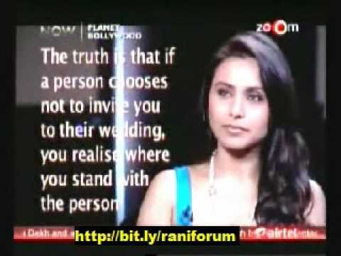 rani mukerji speaks out on abhishek bachchan