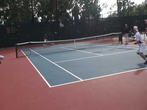 outdoor tennis match