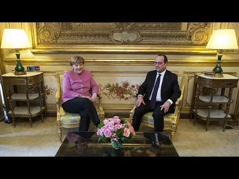 Merkel ve Hollande AB-Türkiye zirvesi öncesi Paris'te buluştu