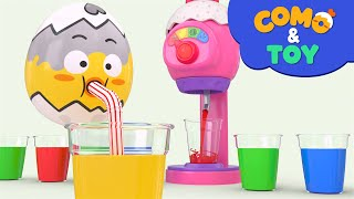 Como | Making Drinks | Learn colors and words | Cartoon video for kids | Como Kids TV