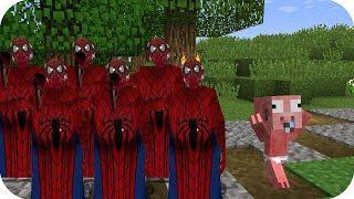 Aenh vs tsunami de Granny Spiderman - Minecraft pe juegos gratis