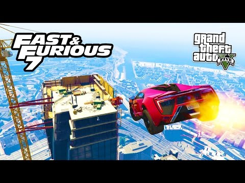 GTA 5 PC Mods - FURIOUS 7 CARS MOD & BUILDING JUMP! GTA 5 FAST & FURIOUS Mod! (GTA 5 Mods Gameplay)
