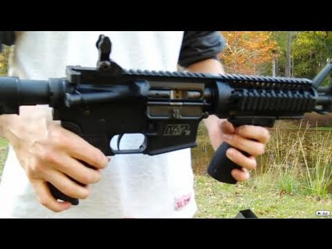 AR-15 SBR Bumpfire (100 Rounds of a Solid Stream of Led)