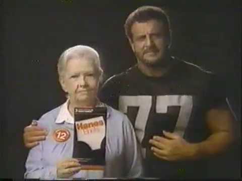 1987 Hanes Underwear Commercial with Lyle Alzado