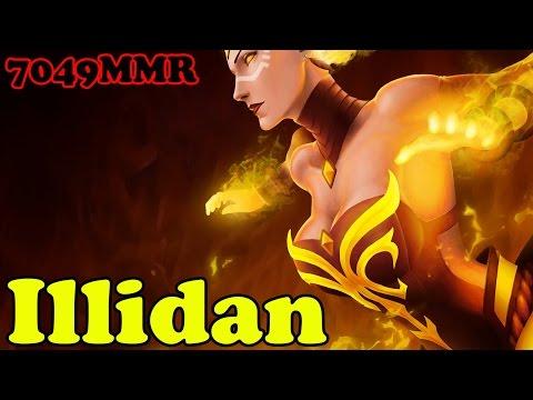 Dota 2 - Illidan 7049 MMR Plays Lina - Ranked Match Gameplay